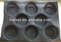 "17""X12.2"" Flexible bread bun Baking Forms Perforated Non stick silicone bread mold Woven glass fabric mold"