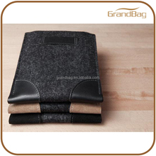 Handmade luxury genuine leather felt new case for iPad mini Sleeve with Leather trademark case for ipad mini2 3