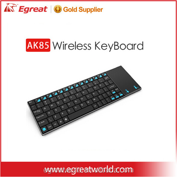 2015 whlesale cheap wireless keyboard and mouse with new designed Android tv BOX with touchpad Airmouse