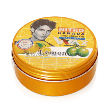 Fashion professional olive hair styling wax nitro canada hair wax for men