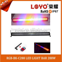 Newest car lighting 2016 flash 50inch led bar light with aluminum housing and 304 stailess steel bracket