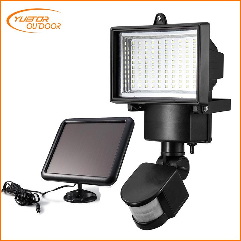 Solar Lights, Yuetor Bright 90 LED Solar Powered Security Lights Waterproof Outdoor Motion Sensor Lighting for Wall