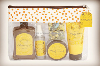 Shining Body Skin Care Bath Gift Set Sunflower Scented Personal Body Care Set