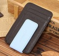 Men Genuine leather Slim Wallet Money Clip ID Credit Card Holder purse