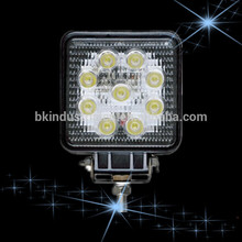 Shenzhen market ip68 new 27w car led tuning light led work light for hotel