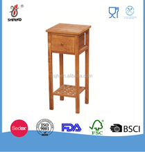 Walnut wooden rack stand for bathroom