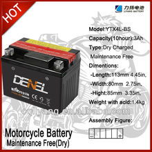 YTX4L-BS battery motorcycle YTX4L-BS lead acid motorcycle battery (motorcycle batteries)