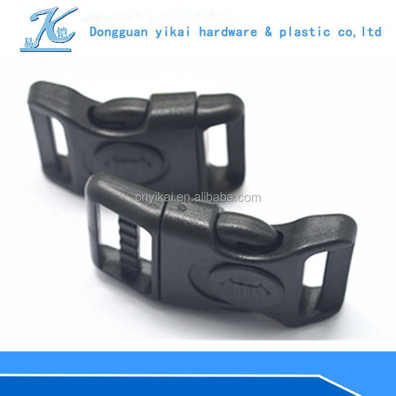 Factory price 20mm plastic buckle,plastic breakaway bucklecurved side release buckles