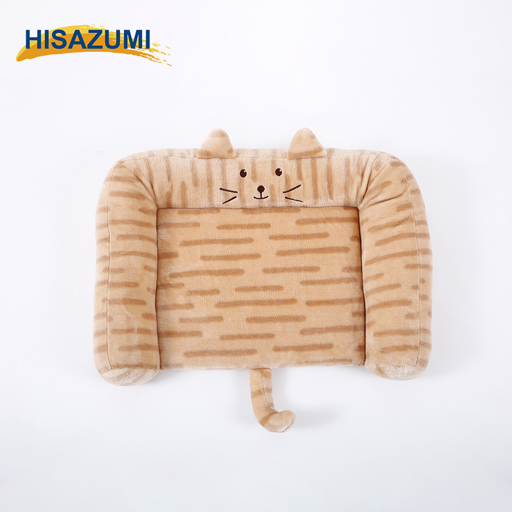 Cute cat shaped pet dog bed pet cushion pet pad for small animal