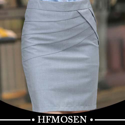 N11008 Twill Design Ladies Formal Skirts Stylish Maxi Business ...
