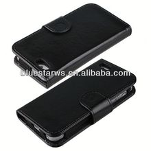 2014 hot sell flip case cover for iphone5 stylish colorful leather case for iphone5