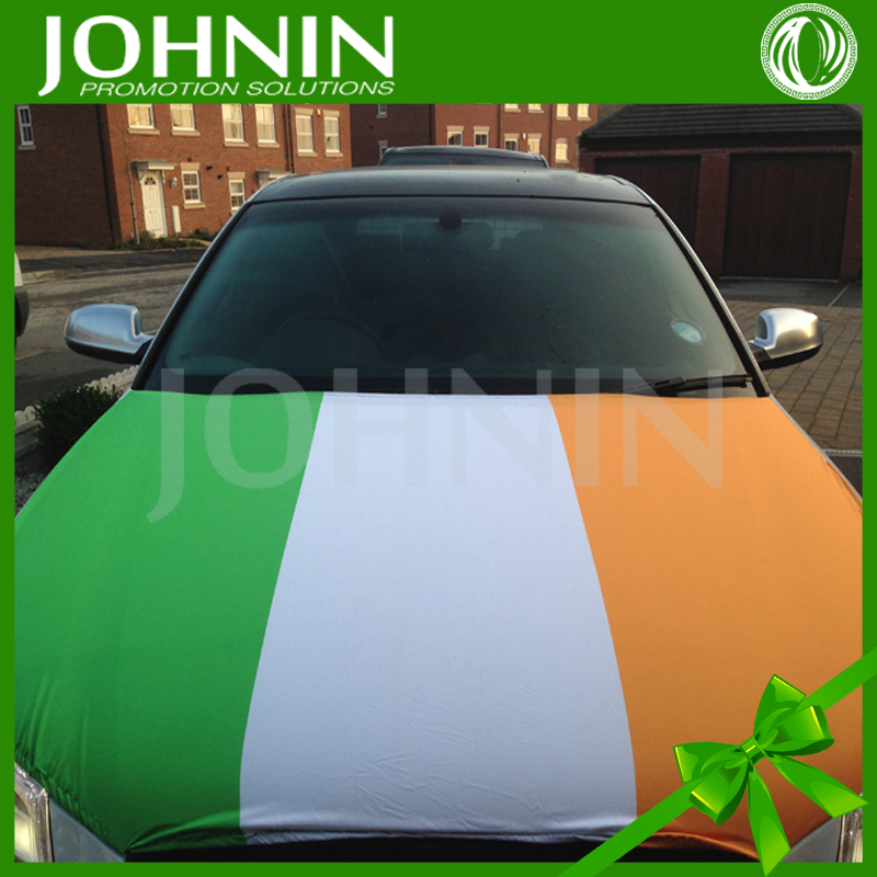 Sublimation printed Stretch fabric custom logo advertising Car bonnet flag