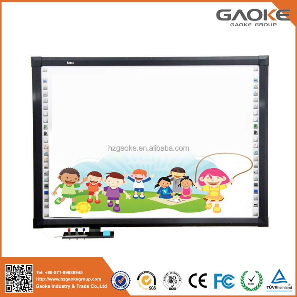 With data high quality polished freestanding magnet board all in one interactive whiteboard