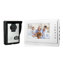 "FDL 7"" LCD Color monitor Video Door Phone Doorbell Intercom System 1 Access outdoor Camera + 1 White Monitor"