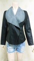 Hot Sales Fashion Women Leather Jacket Black color PU motorcycle Alike Jacket