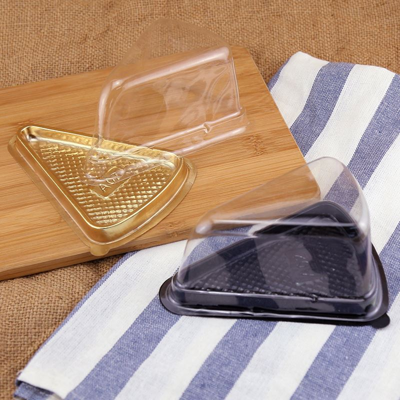 Fancy Plastic Triangle Cake Box Sandwich Food Container