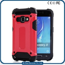 High good quality case with two hard PC soft TPU hybrid 2in1 cell phone case for samsung J1 2016