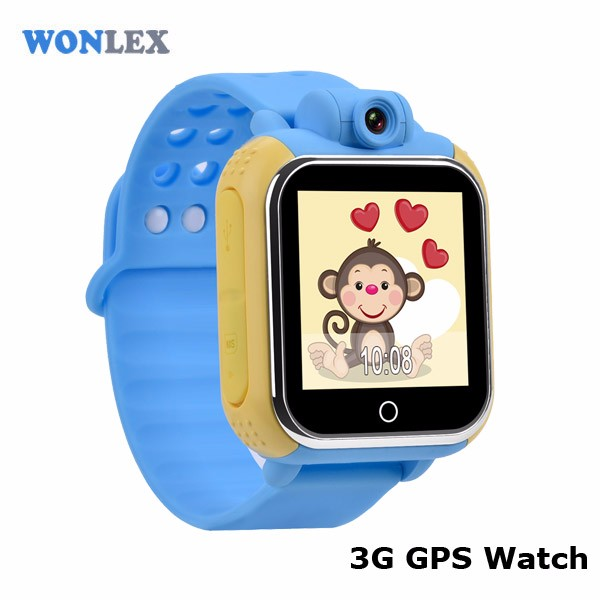 Wonlex newest 3G watch gps kids tracker watch with android 2.3 or above IOS5.0