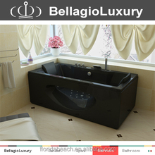 Black whirlpool, double ended bathtub, fico massage bathtub