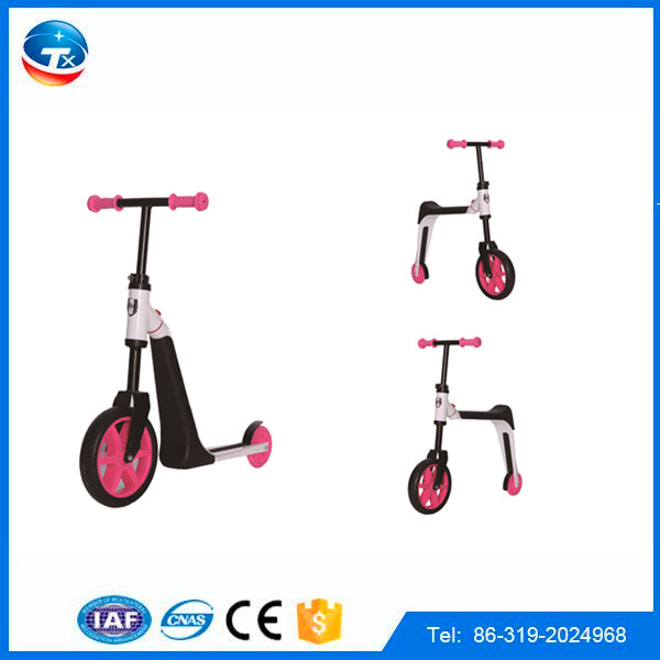 Best selling Aluminium scooter 2 in 1/ CE approved best quality pro scooter kids / plastic toy foot scooter kid