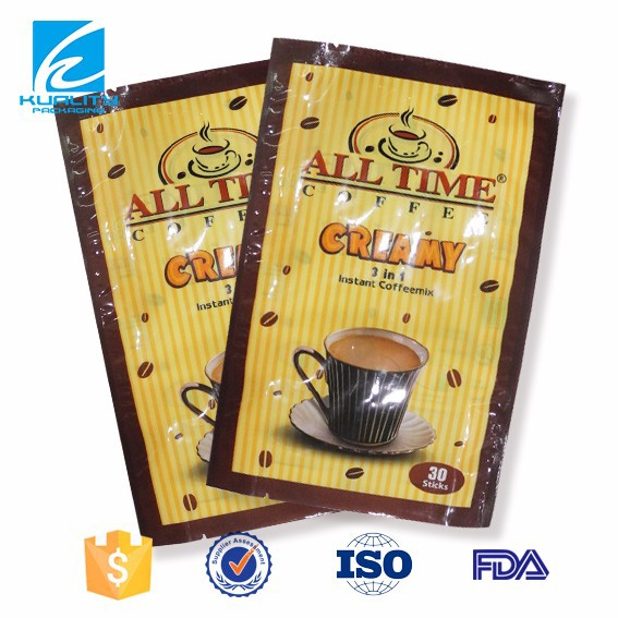 Custom logo printing flexible heat seal plastic coffee bag