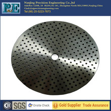 Customized top grade cnc titanium plate with many <strong>holes</strong>