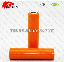 2016 Hot selling orange AMR18650 1600mAh 3.7V Li-ion rechargeable lithium battery with flat top PK vs eh battery
