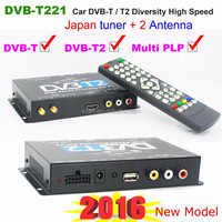 receiver for cable television DVB-T221 dvb-t2 car digital tv box MULTI PLP DTV box high speed