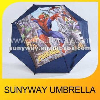 Remarkable Carton CMYK printed Umbrella for Child