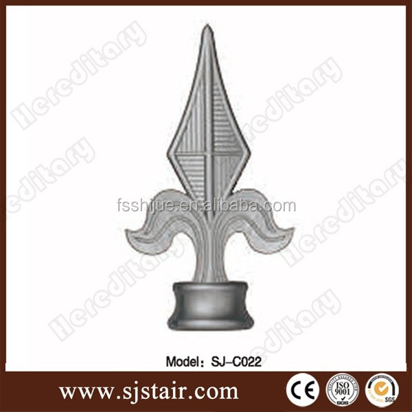 Casting good quality and various style wrought iron aluminum spear head for fencing decoration