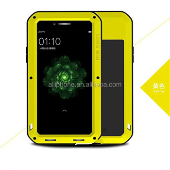 Hot sell Waterproof Metal Aluminum mobile phone Case For OPPO R9s Plus shockproof phone cover