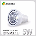 Norway Hot Sale Gu10 Dimmable led bulbs 5W COB Spotlight Ra85 CE RoHs Listed Sharp COB 2700K 3000k 4000k 5000k 220V