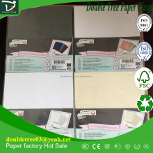 A4 size color paper embossed white, green, yellow