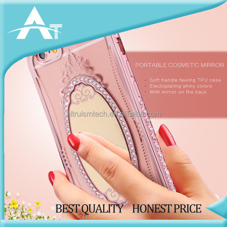 shiny crystal soft fashion phone case cover with diamond design back cover case transparent phone case