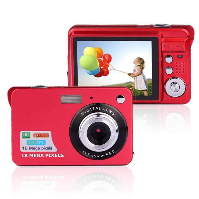 "Max 18MP 2.7"" TFT LCD Slim Digital Camera ( DC-189)"