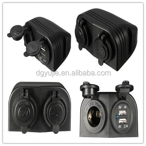 3.1A DC Marine auto bus universal Dual port car USB Charger power outlet with 2 Hole tent