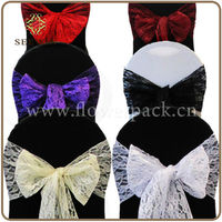 Lace chair sashes