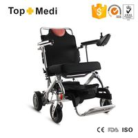 Topmedi new design best selling products mini strong aluminum frame lightest small electric wheelchair