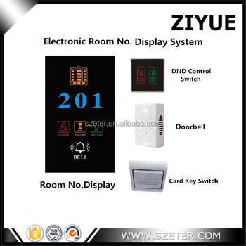 Smart Electronic hotel room key card power switch and door bell system