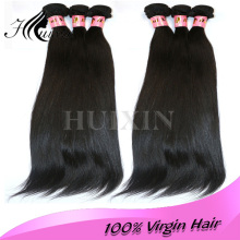 Cheap 100% natural straight brazilian virgin human full fix hair