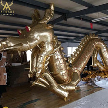 LED ball inflatable gloden dragon costume for festival event decoration