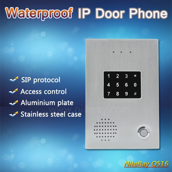 Keypad, card reader IP based door intercom smart phone remote access control
