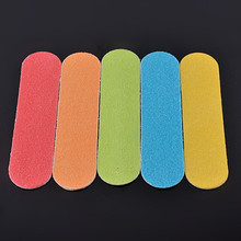 Wholesale OEM Available Disposable Custom Mix Color Emery Board Small size Nail File