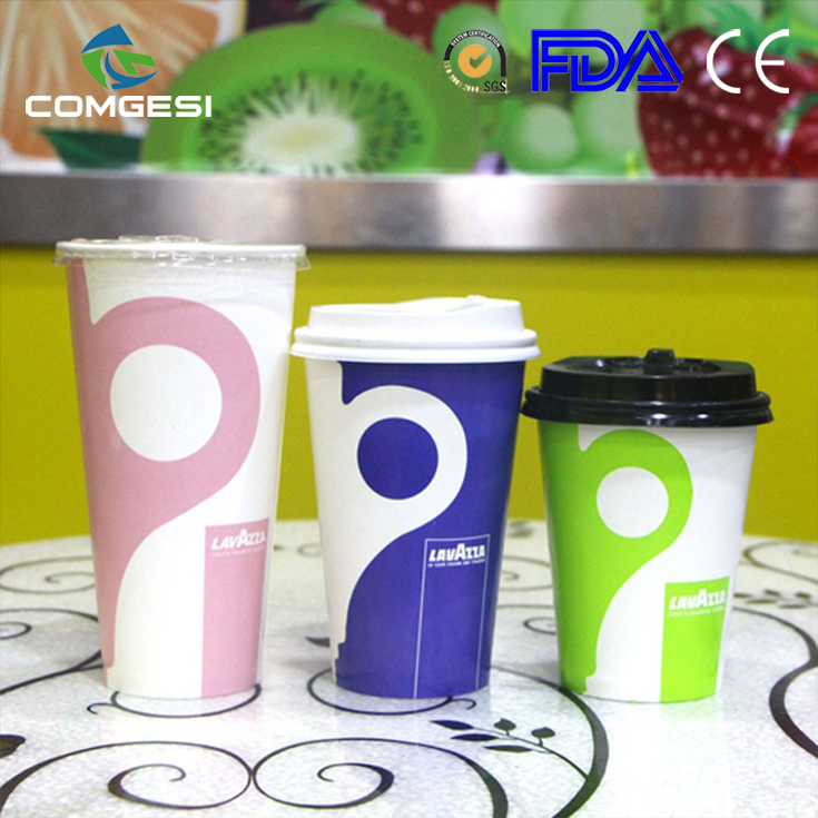 Manufacturer whole sell biodegradable hot beverage drinking 12 oz disposable custom paper cup sleeve