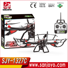 2016 SKY VAMPIRE 1327 Hot rc drone 2.4G 4 channel rc quadcopter with 2MP HD camera RC helicopter SJY-1327C