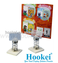 plastic adhesive spring wobbler advertising for shelf