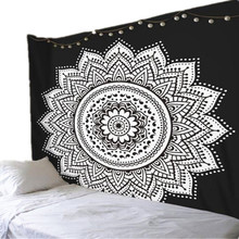 Bless International Indian Hippie Bohemian Psychedelic Peacock Mandala Wall Hanging Tapestry