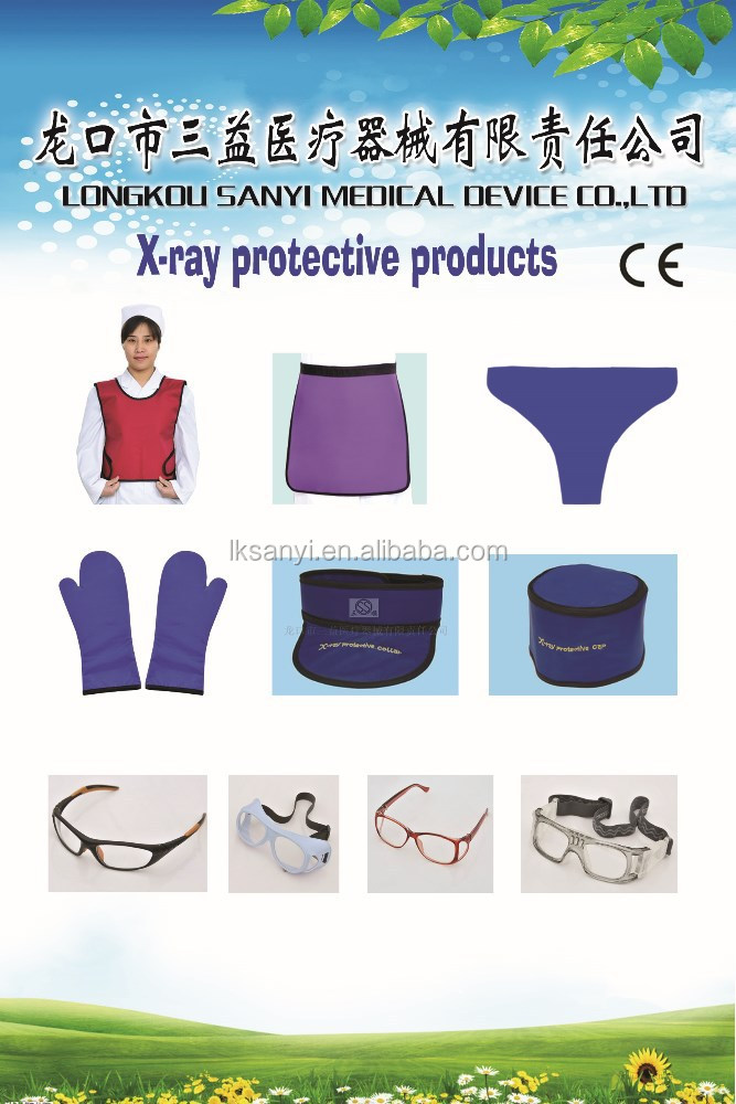 China soft X-ray protective lead apron anti radiation with and without sleeves
