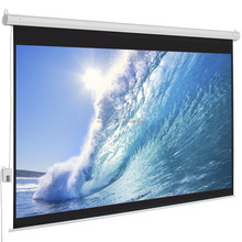 Professional manufacuturer wall hanging 3d fiberglass Electric Projection Screen for Education