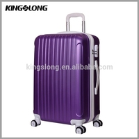 Kingslong different color ABS luggage, trolley bag royal polo luggage trolley case